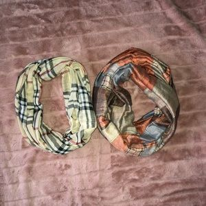 Accessories - Plaid infinity scarves